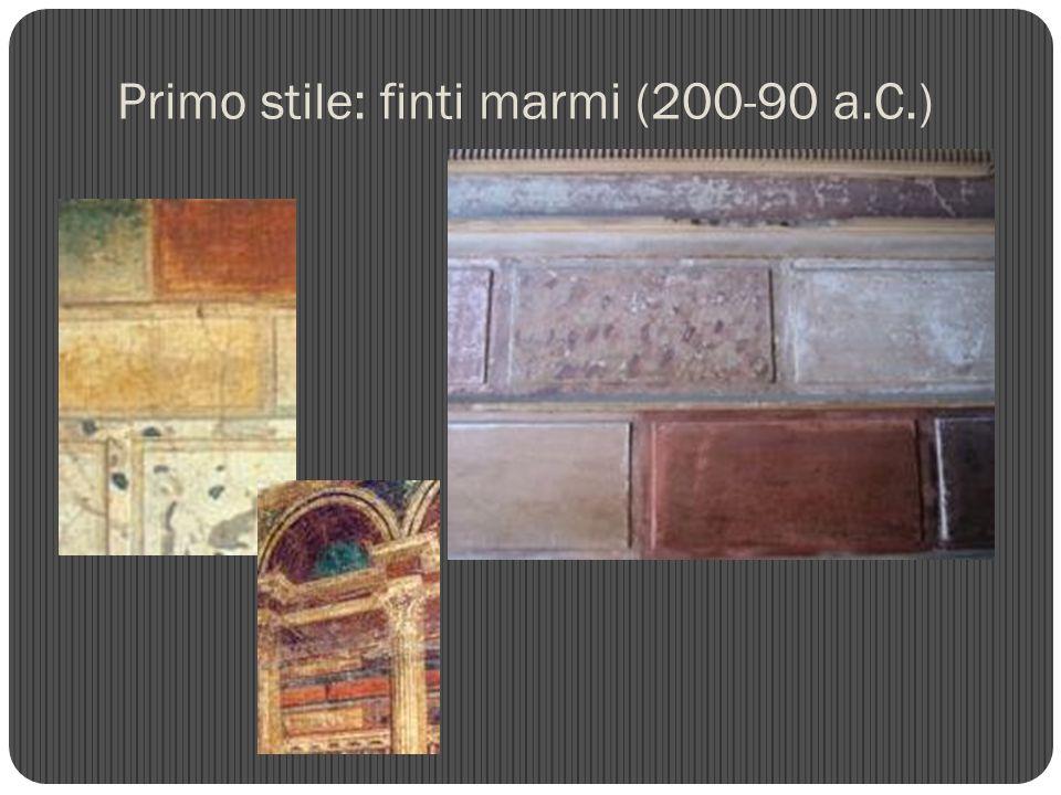 Primo stile: finti marmi (200-90 a.C.)