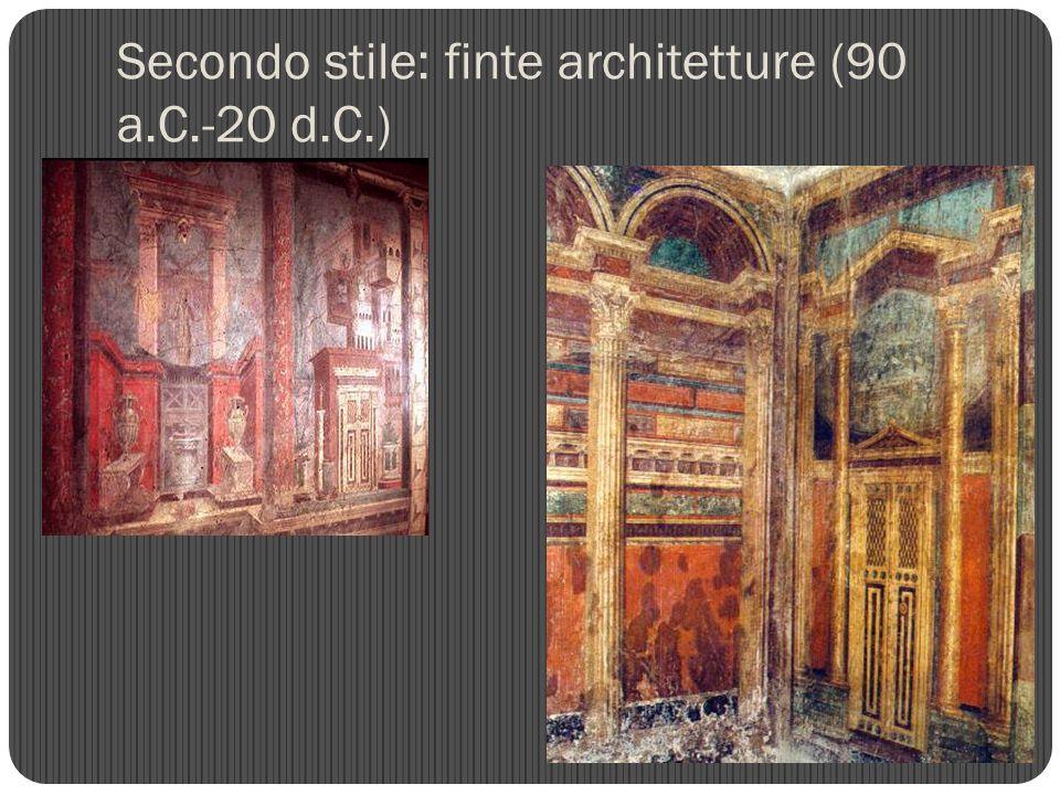 Secondo stile: finte architetture (90 a.C.-20 d.C.)