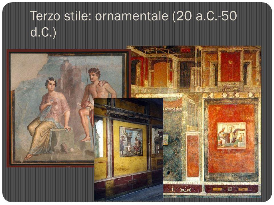 Terzo stile: ornamentale (20 a.C.-50 d.C.)