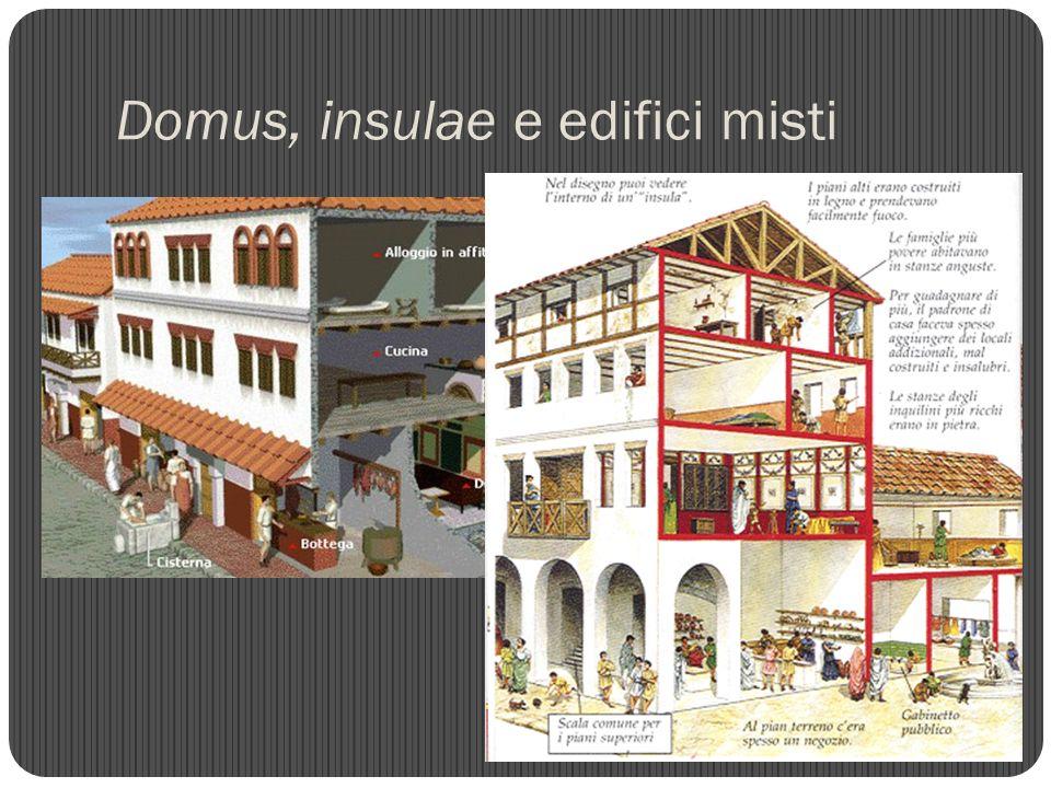 Domus, insulae e edifici misti