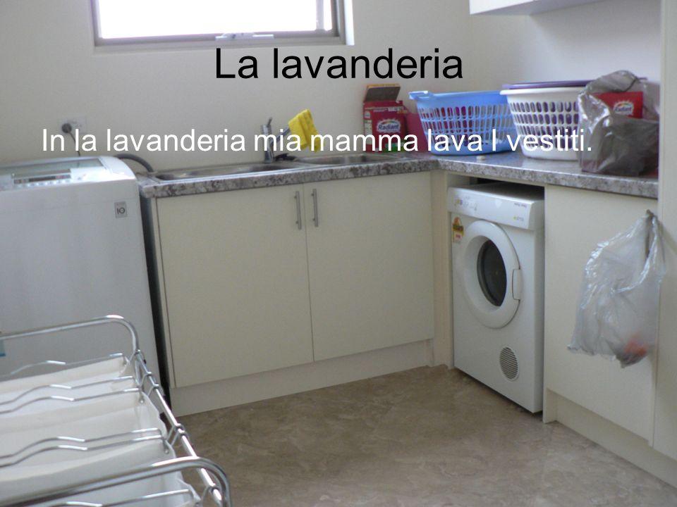 La lavanderia In la lavanderia mia mamma lava I vestiti.