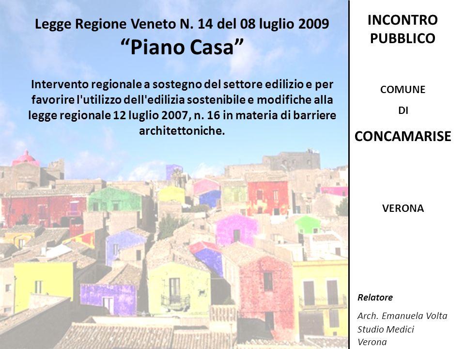 Legge Regione Veneto N. 14 del 08 luglio 2009
