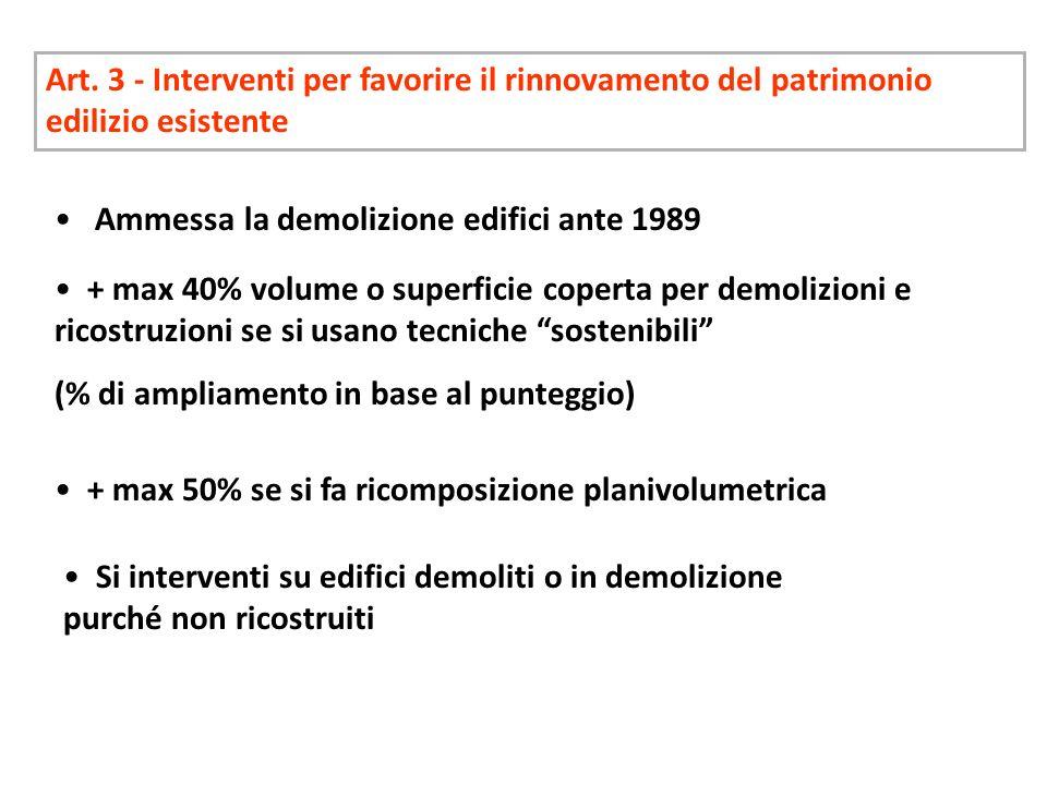 Art. 3 - Interventi per favorire il rinnovamento del patrimonio edilizio esistente