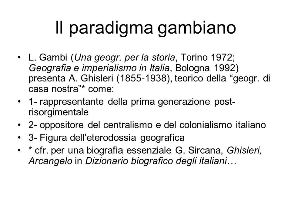 Il paradigma gambiano