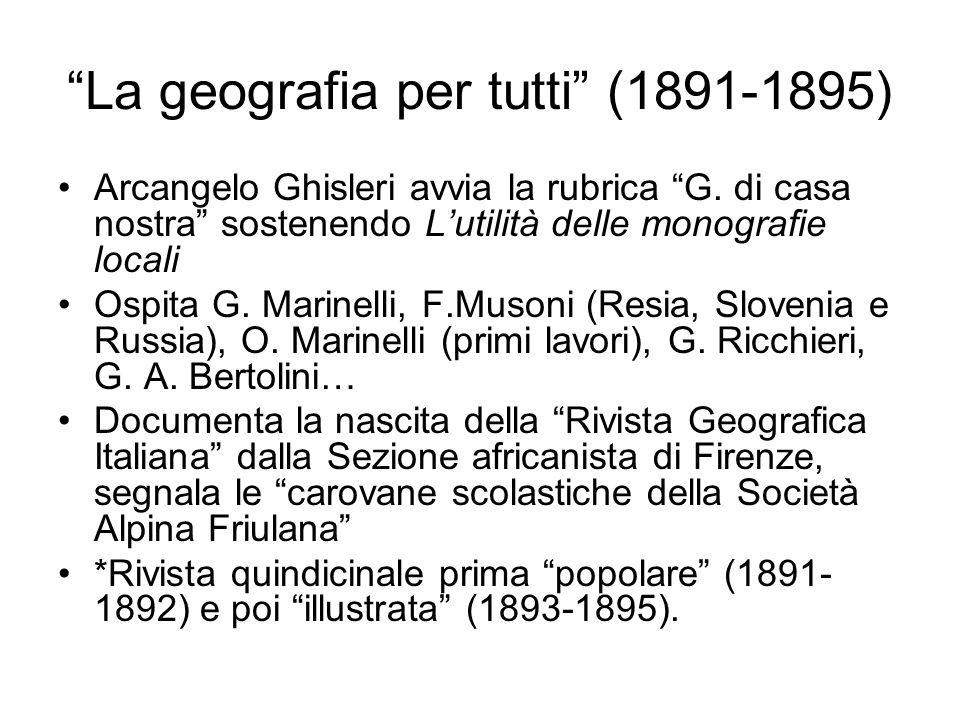 La geografia per tutti (1891-1895)