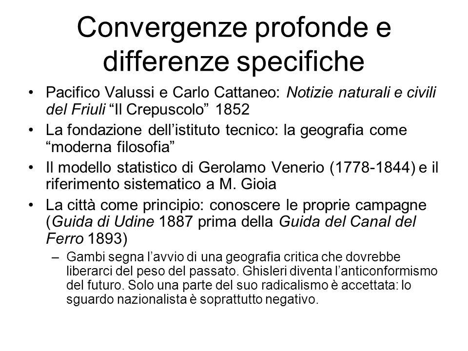 Convergenze profonde e differenze specifiche