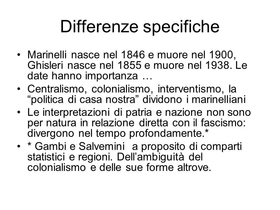 Differenze specifiche
