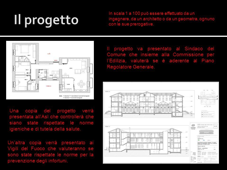 Il progettoIn scala 1 a 100 può essere effettuato da un ingegnere, da un architetto o da un geometra, ognuno con le sue prerogative.
