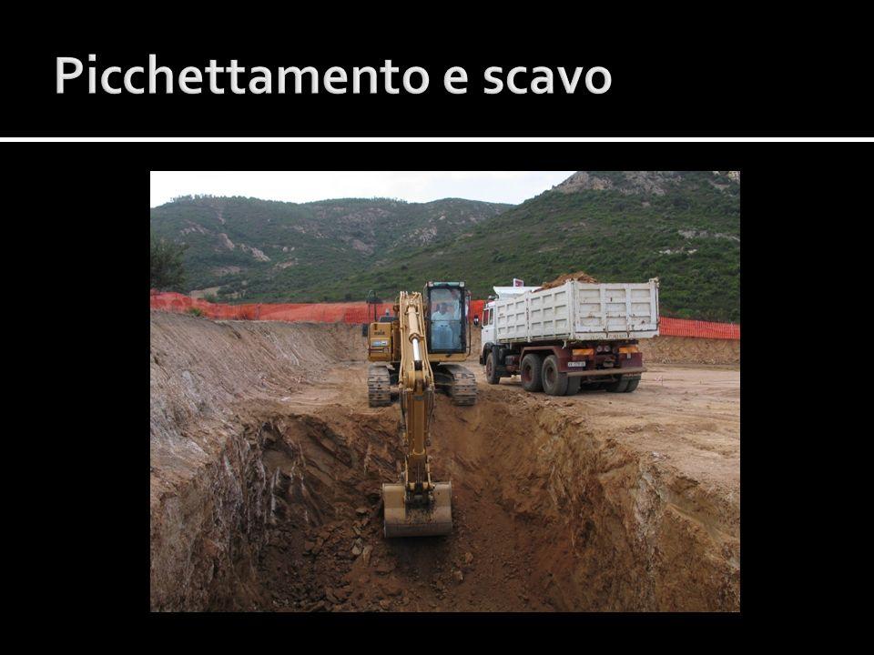 Picchettamento e scavo