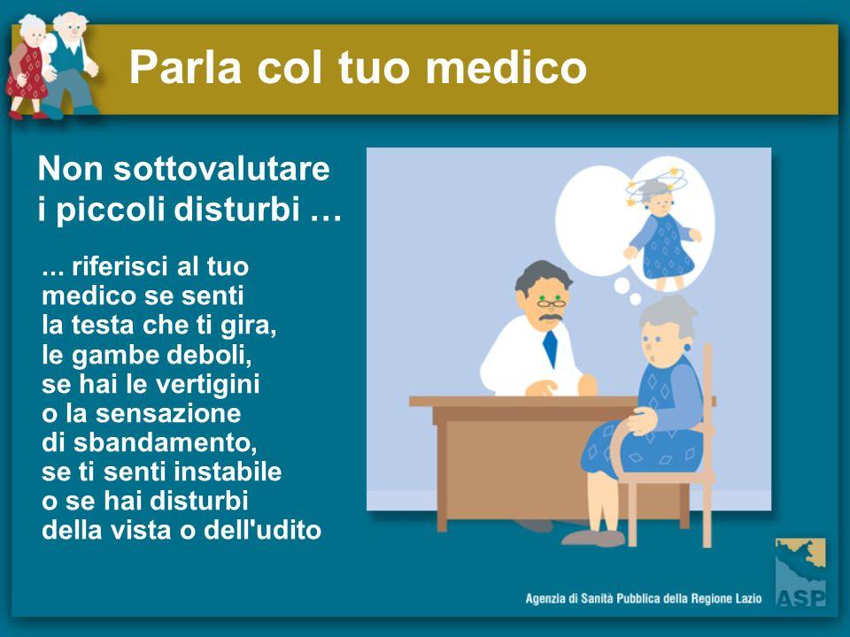 Parla col tuo medico Non sottovalutare i piccoli disturbi …