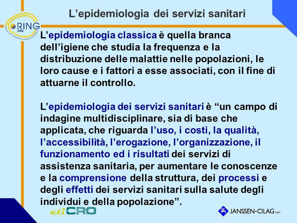 L'epidemiologia dei servizi sanitari