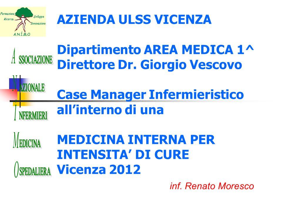 AZIENDA ULSS VICENZA Dipartimento AREA MEDICA 1^ Direttore Dr