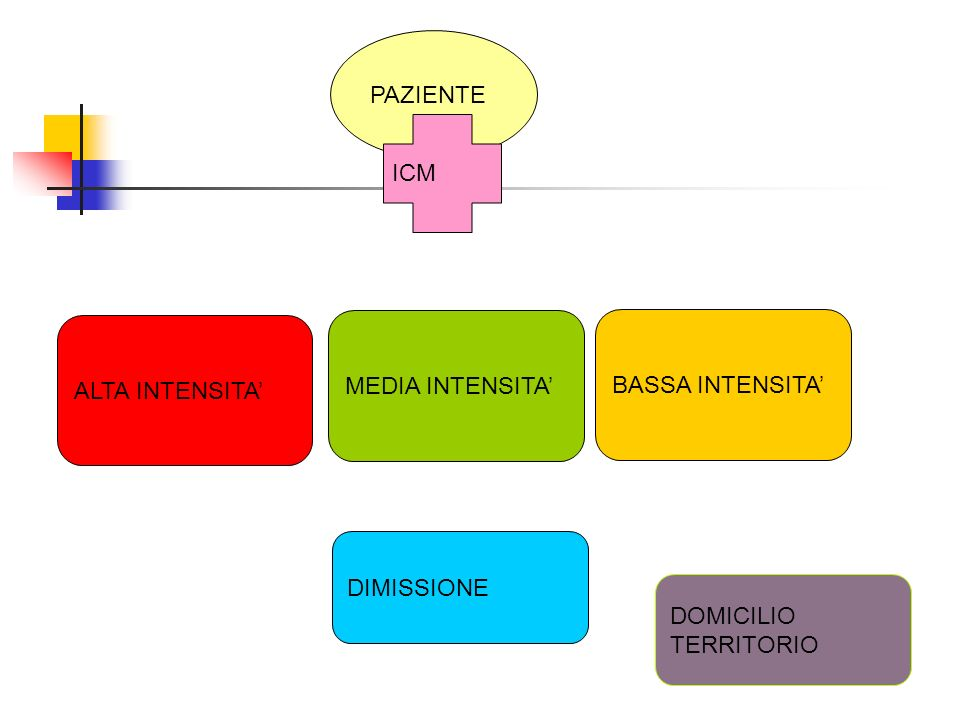 PAZIENTE ICM ALTA INTENSITA' MEDIA INTENSITA' BASSA INTENSITA' DIMISSIONE DOMICILIO TERRITORIO