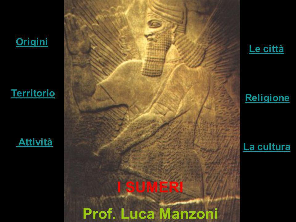 I SUMERI Prof. Luca Manzoni