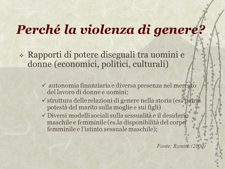 Perché la violenza di genere