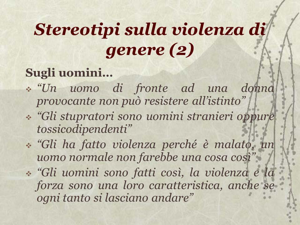 Stereotipi sulla violenza di genere (2)