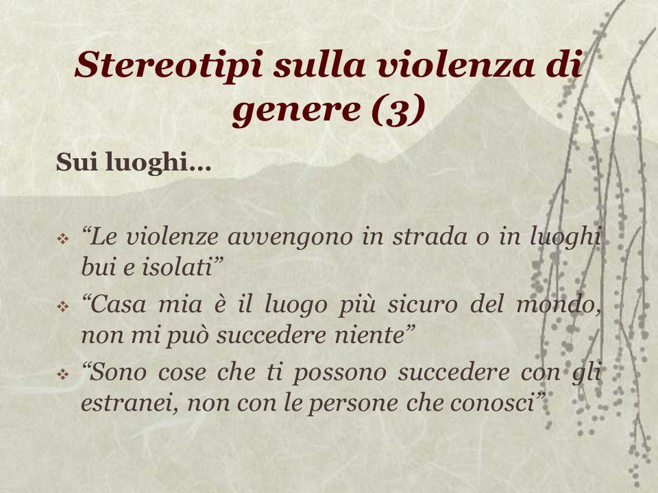 Stereotipi sulla violenza di genere (3)