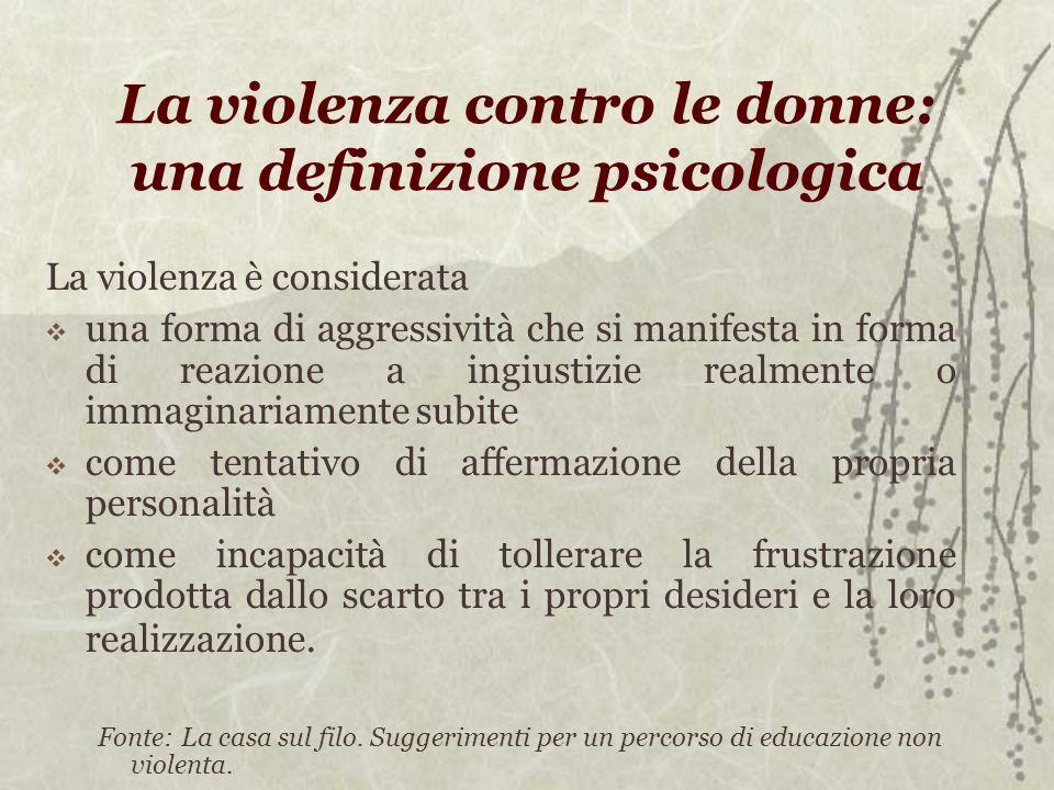 La violenza contro le donne: una definizione psicologica