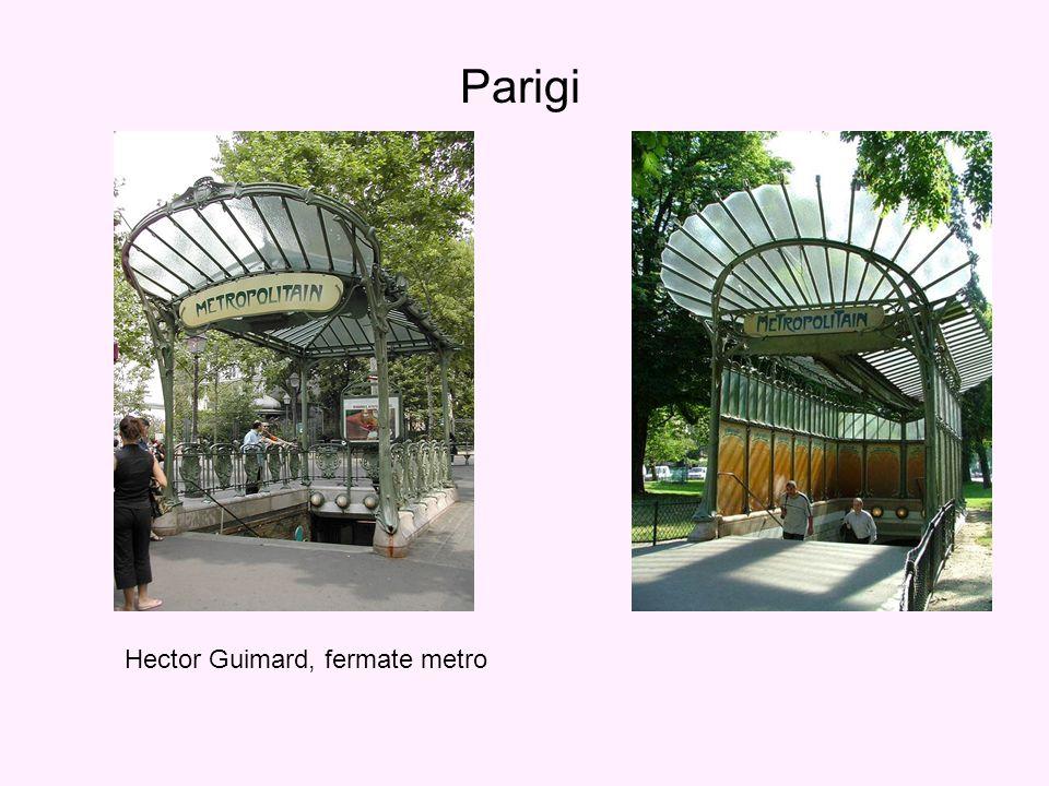 Parigi Hector Guimard, fermate metro