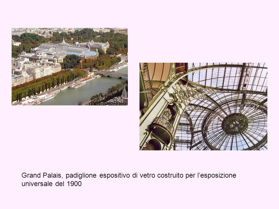 Grand Palais, padiglione espositivo di vetro costruito per l'esposizione universale del 1900
