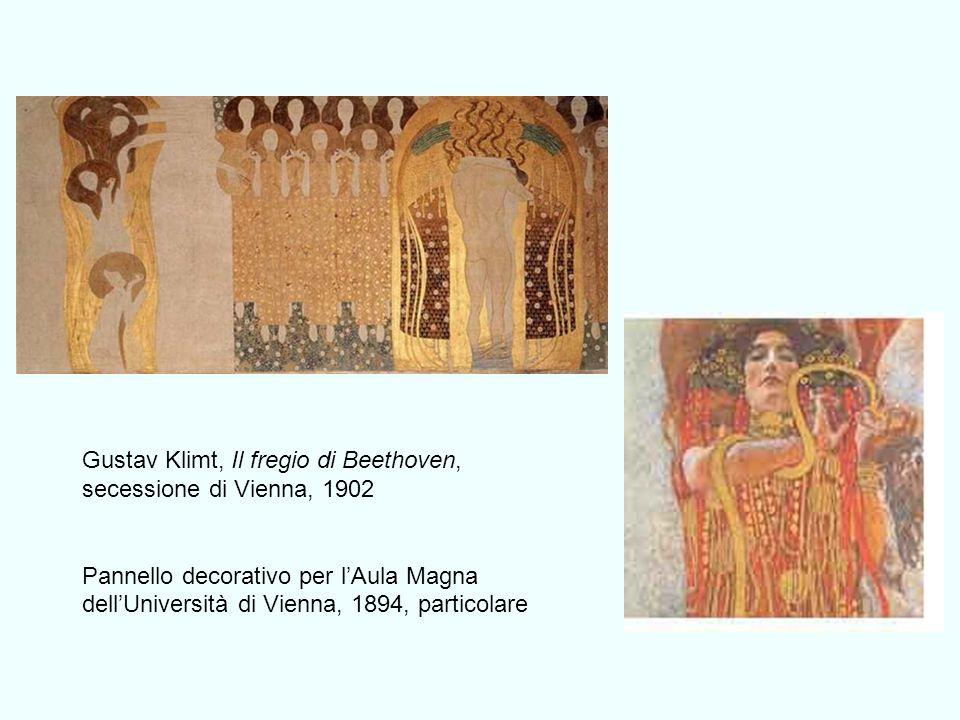 Gustav Klimt, Il fregio di Beethoven, secessione di Vienna, 1902