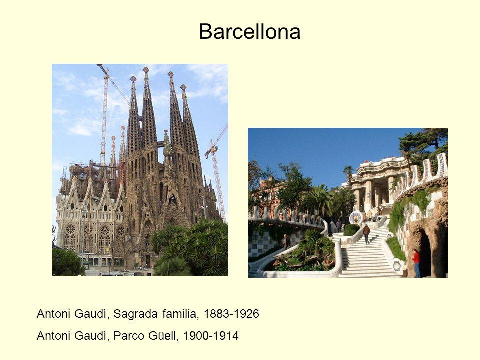 Barcellona Antoni Gaudì, Sagrada familia, 1883-1926