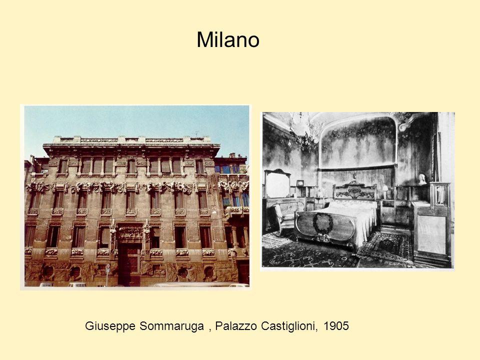 Milano Giuseppe Sommaruga , Palazzo Castiglioni, 1905