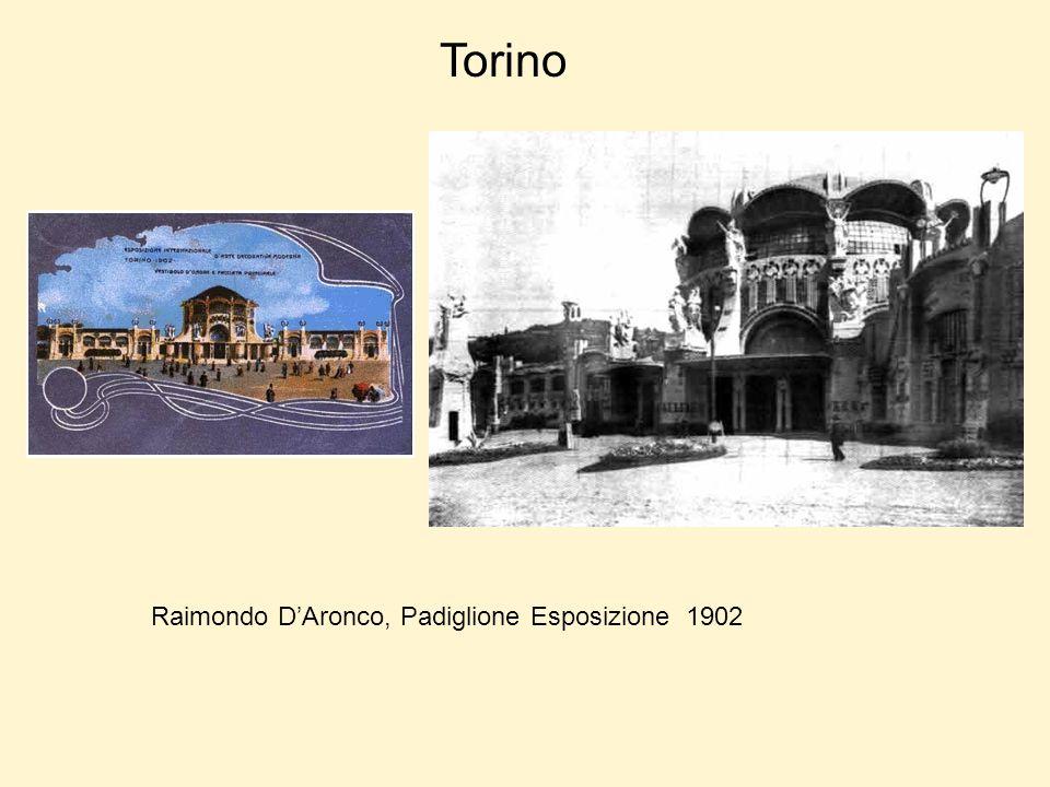 Torino Raimondo D'Aronco, Padiglione Esposizione 1902
