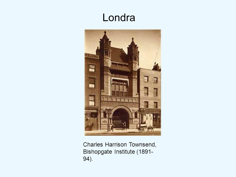 Londra Charles Harrison Townsend, Bishopgate Institute (1891-94).