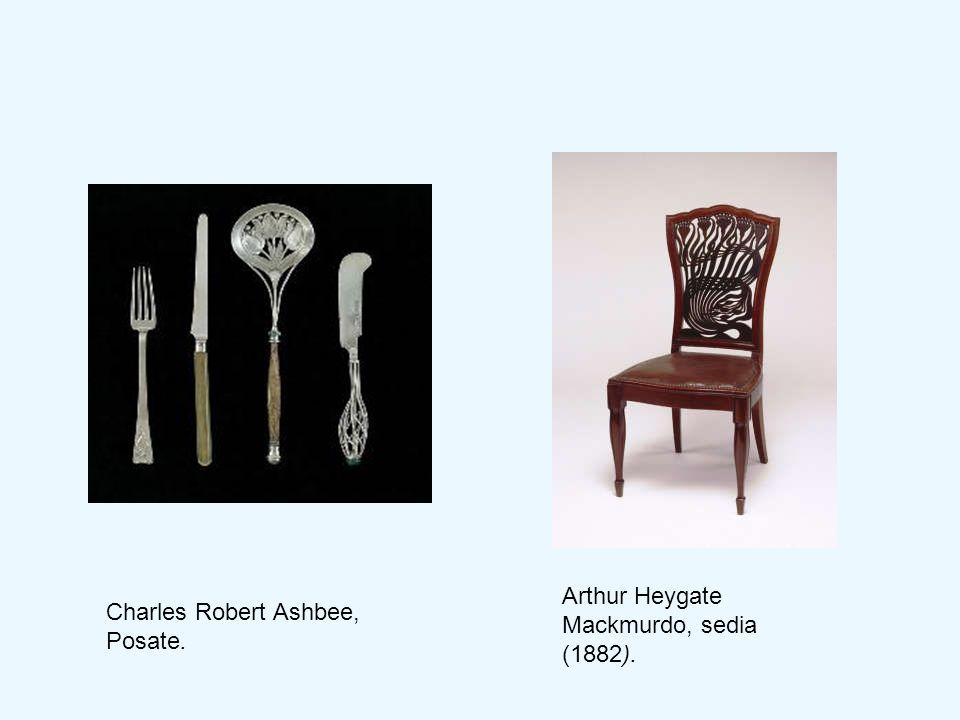 Arthur Heygate Mackmurdo, sedia (1882).