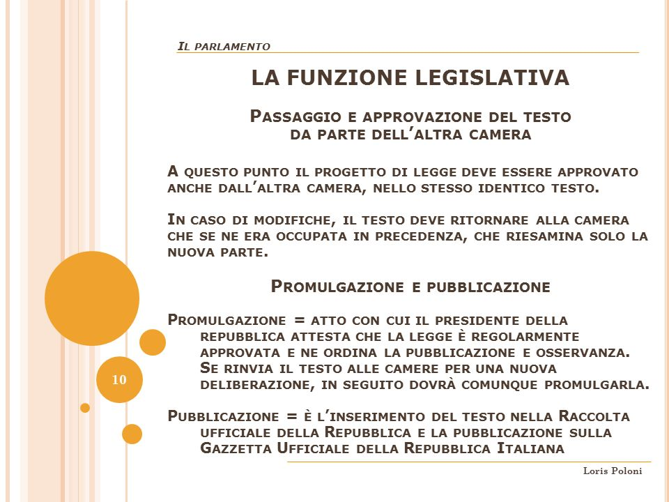 Parte seconda della costituzione ordinamento della for Parlamento della repubblica italiana