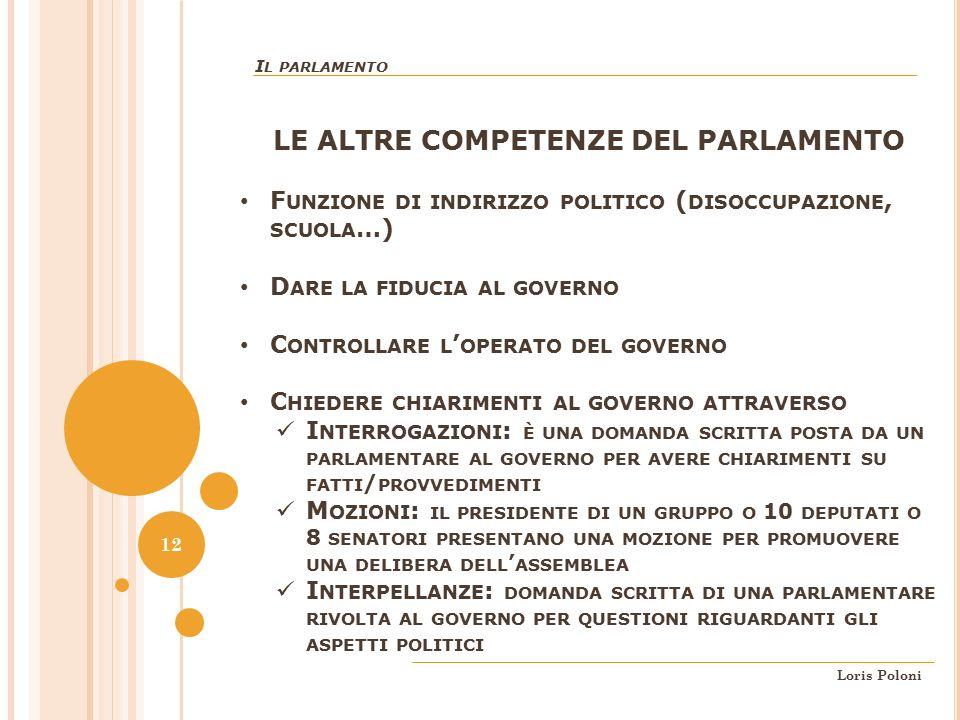 Parte seconda della costituzione ordinamento della for Indirizzo parlamento italiano