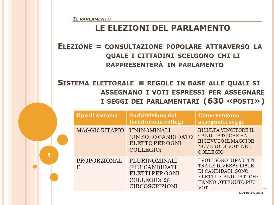 Parte seconda della costituzione ordinamento della for Parlamentari numero