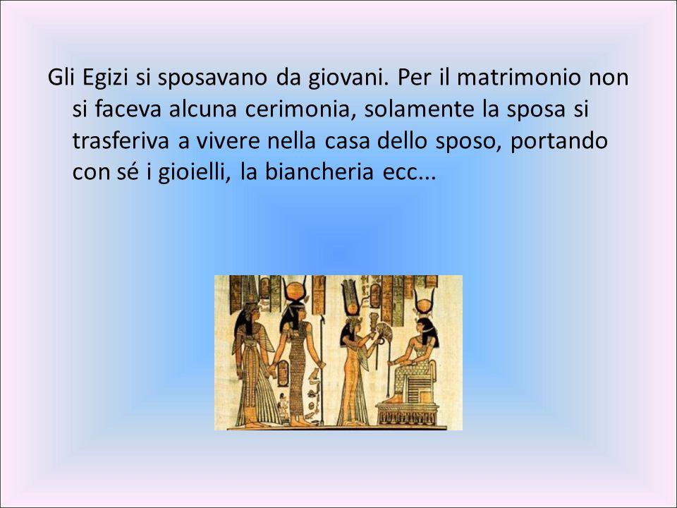 Gli Egizi si sposavano da giovani