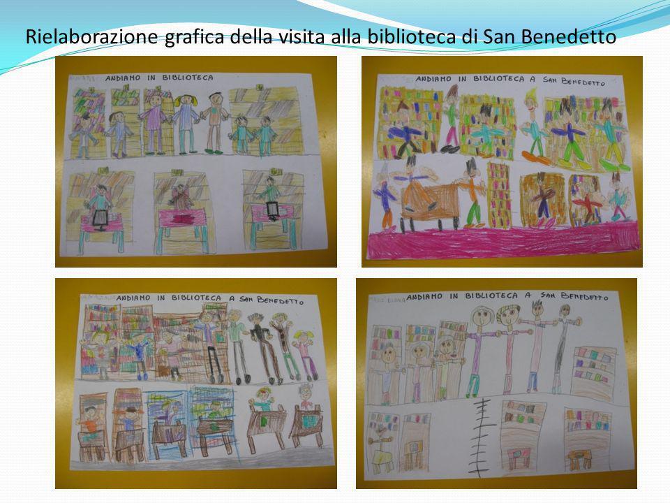 Rielaborazione grafica della visita alla biblioteca di San Benedetto