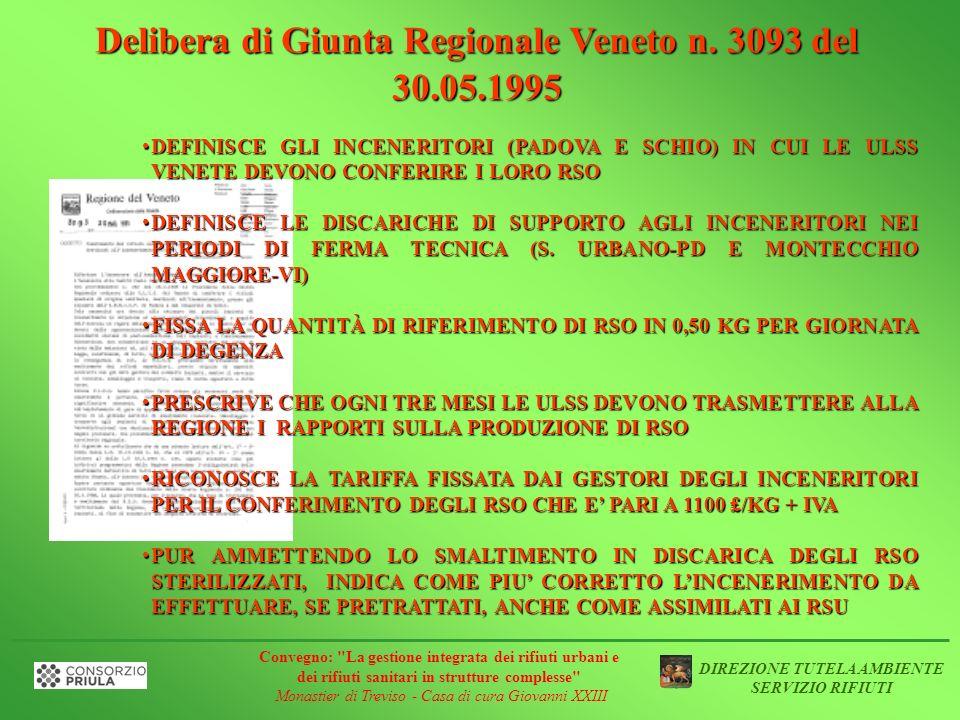 Delibera di Giunta Regionale Veneto n. 3093 del