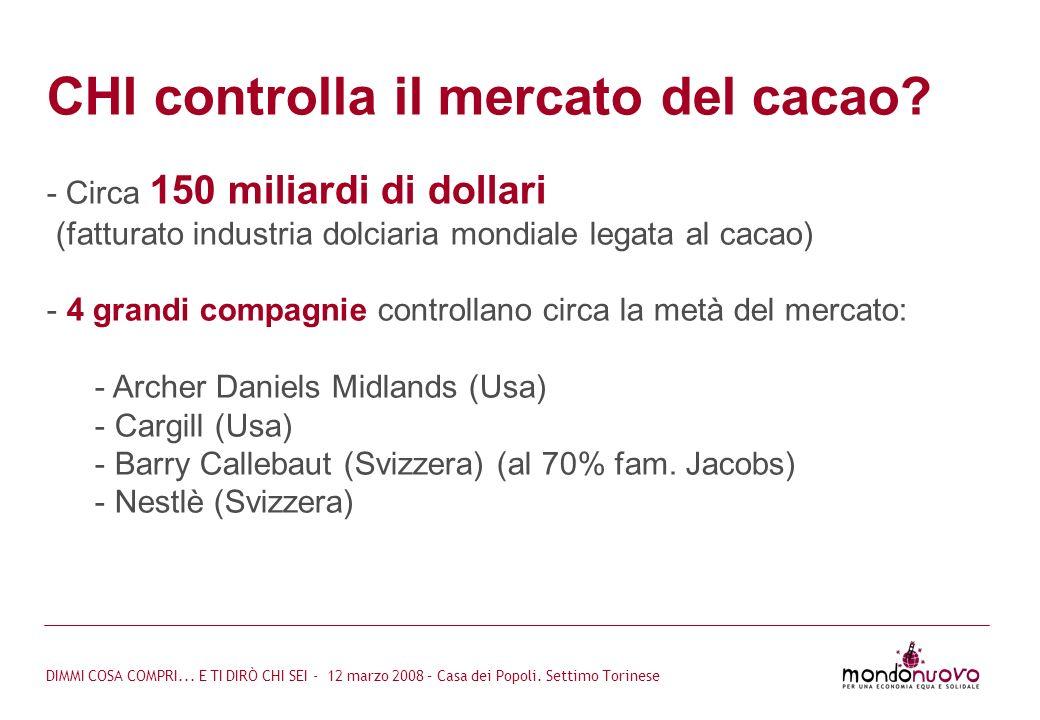 CHI controlla il mercato del cacao