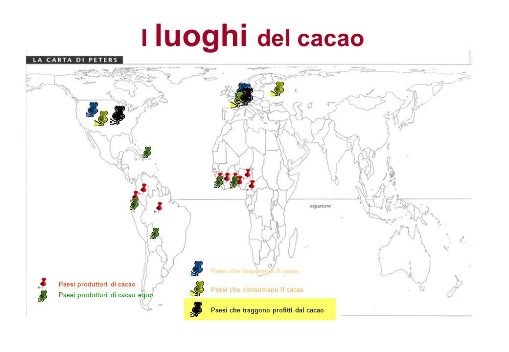 I luoghi del cacao Paesi che importano il cacao