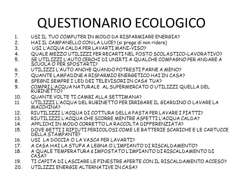 QUESTIONARIO ECOLOGICO