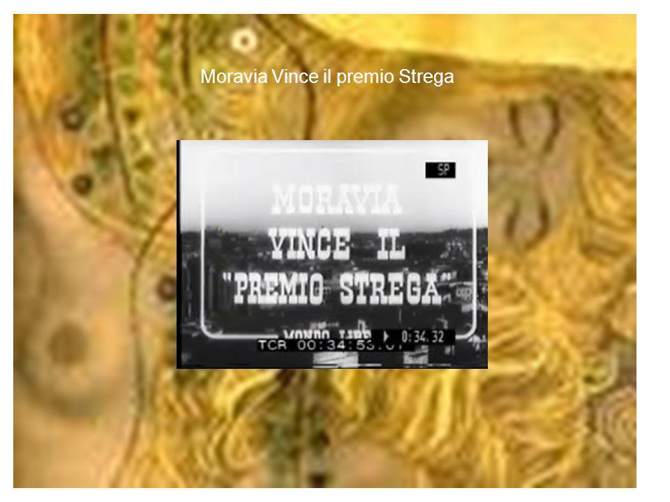 Moravia Vince il premio Strega