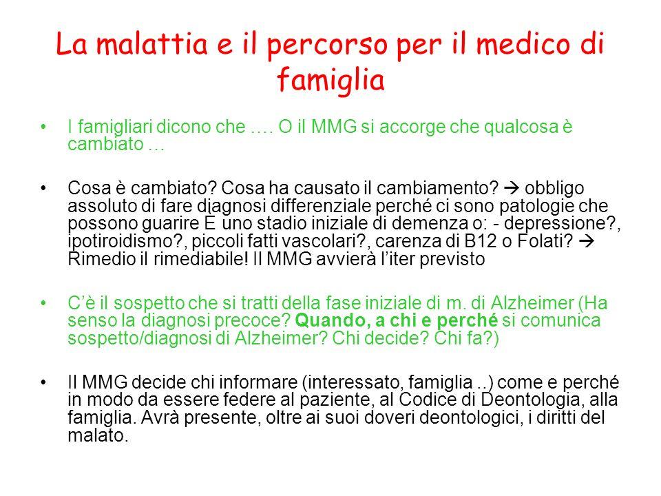 La malattia e il percorso per il medico di famiglia