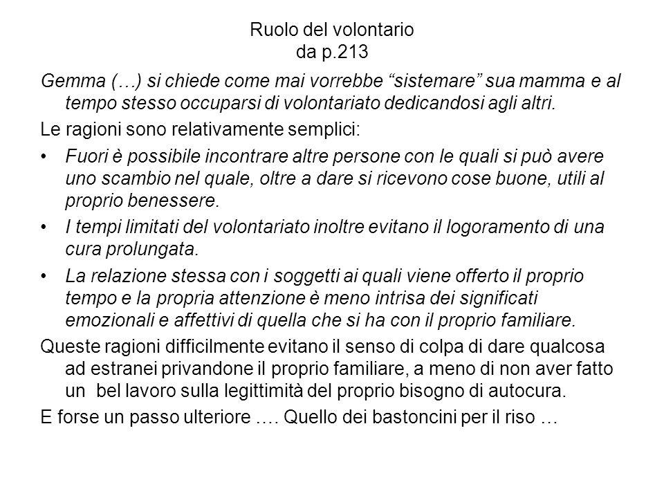 Ruolo del volontario da p.213