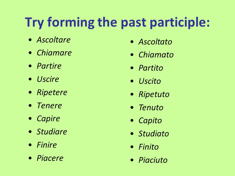 Try forming the past participle: