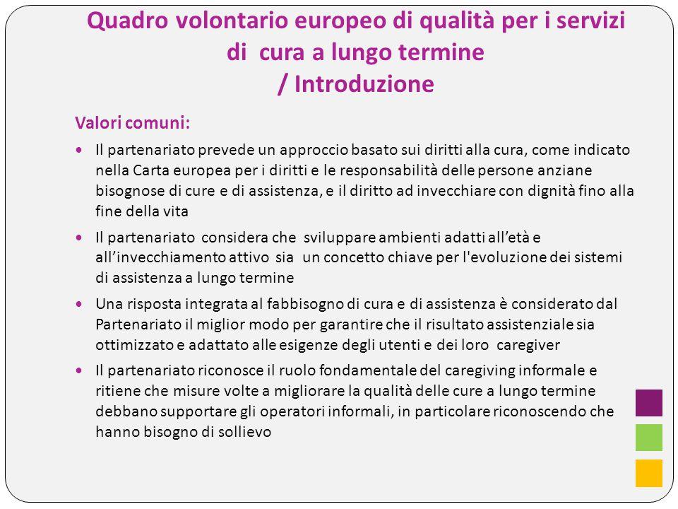 Quadro volontario europeo di qualità per i servizi di cura a lungo termine / Introduzione