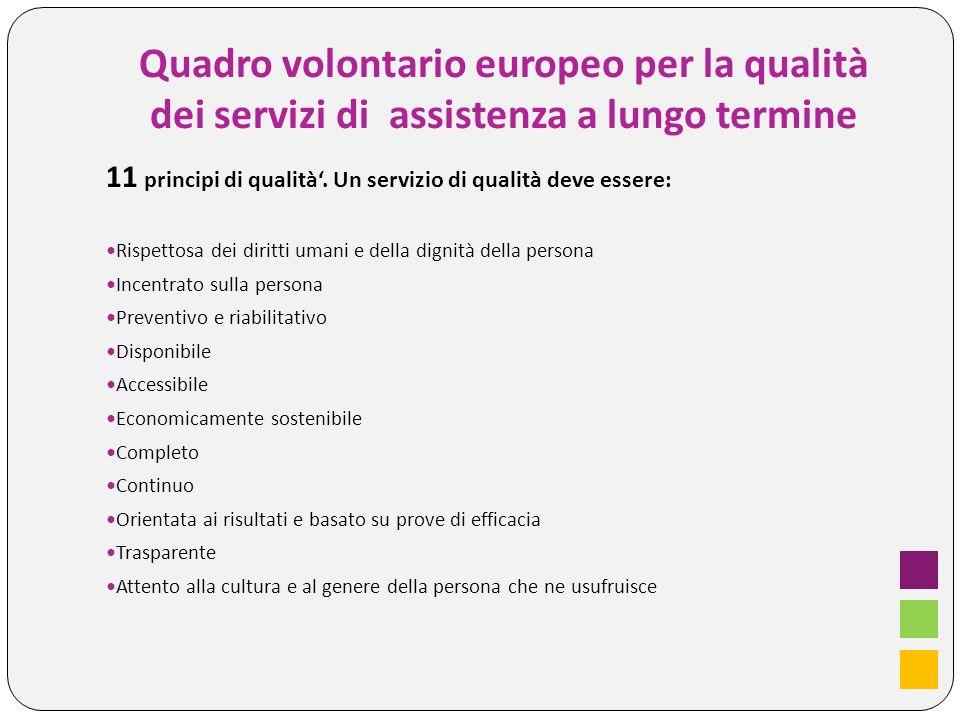 Quadro volontario europeo per la qualità dei servizi di assistenza a lungo termine