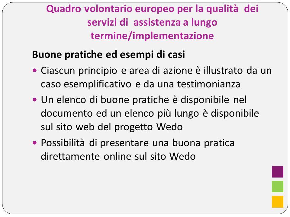 Quadro volontario europeo per la qualità dei servizi di assistenza a lungo termine/implementazione