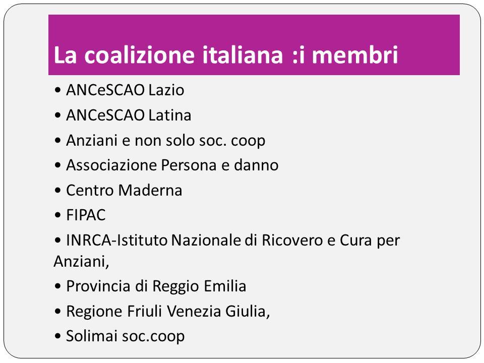 La coalizione italiana :i membri