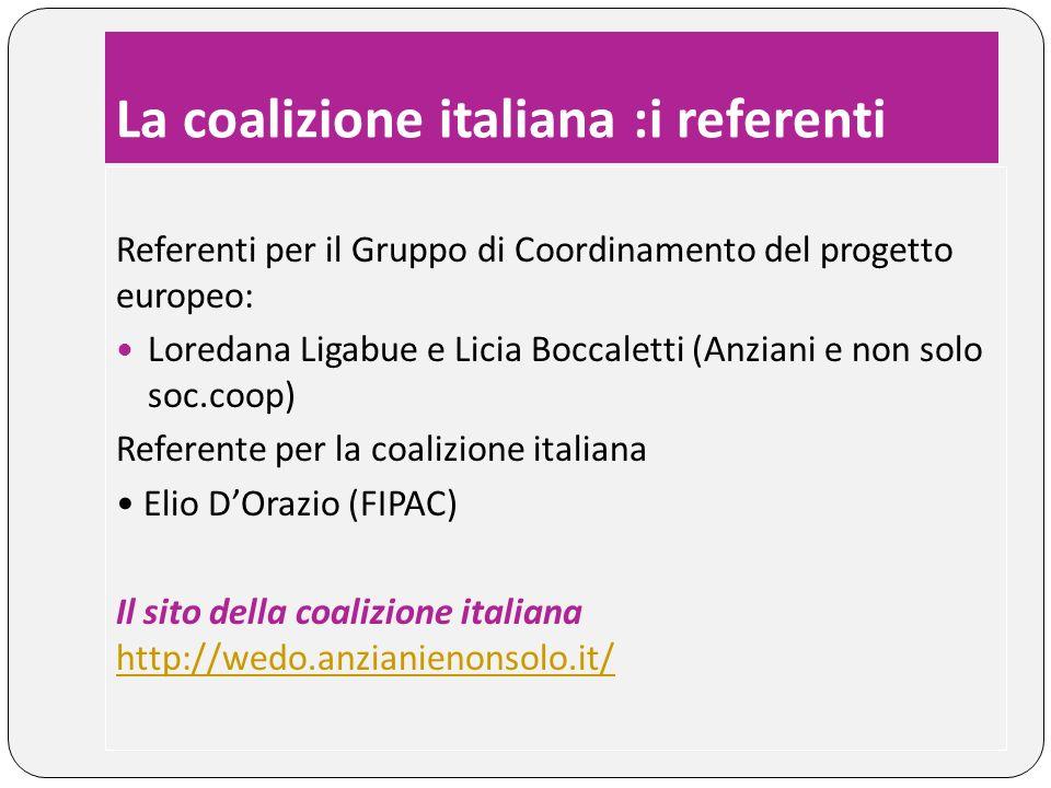 La coalizione italiana :i referenti