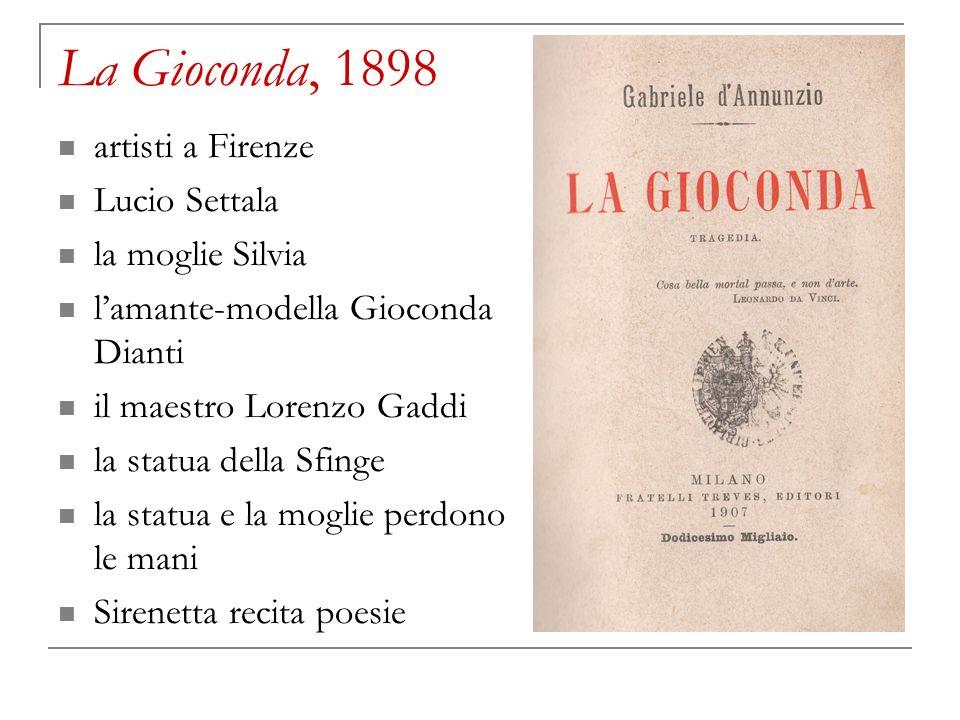 La Gioconda, 1898 artisti a Firenze Lucio Settala la moglie Silvia