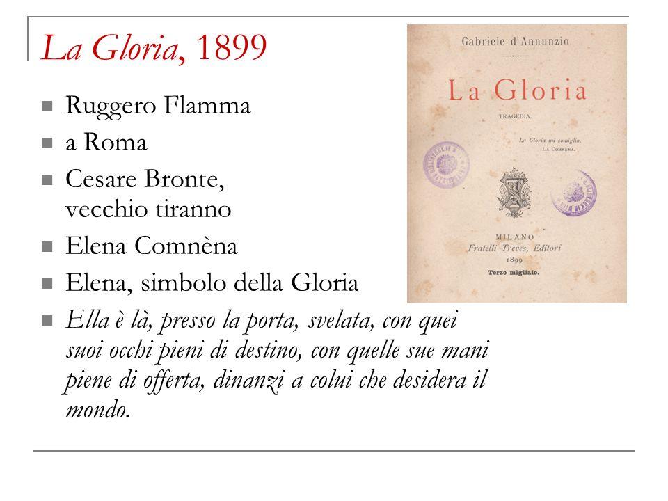 La Gloria, 1899 Ruggero Flamma a Roma Cesare Bronte, vecchio tiranno